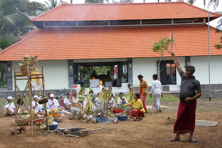 Traditional balinese ceremony was conducted separately for each building, for land.. every corner of BBC was blessed by all spirits