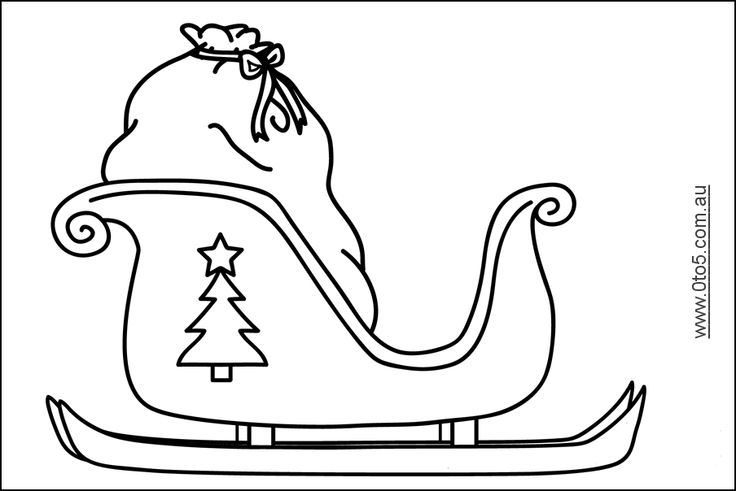 It is an image of Obsessed Free Printable Santa Sleigh Templates