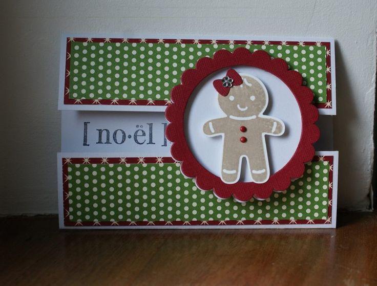 carte bonhomme pain d'épice noel : Cartes par bidouilles-and-co