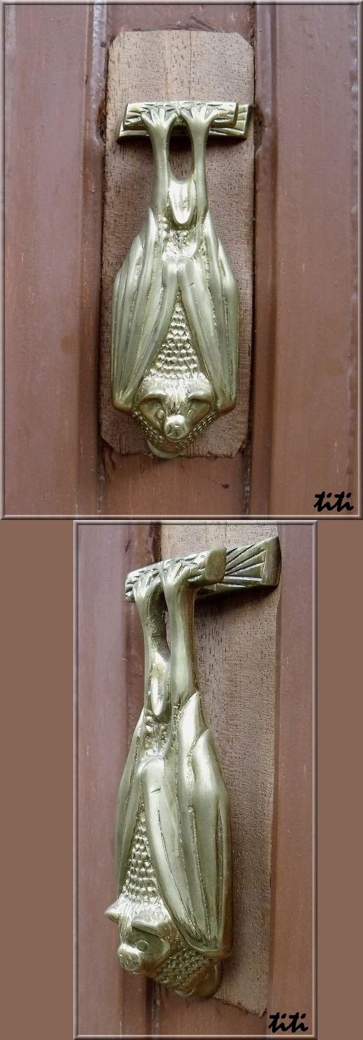 Bat Door Knocker. Serrière, Ardèche (France).