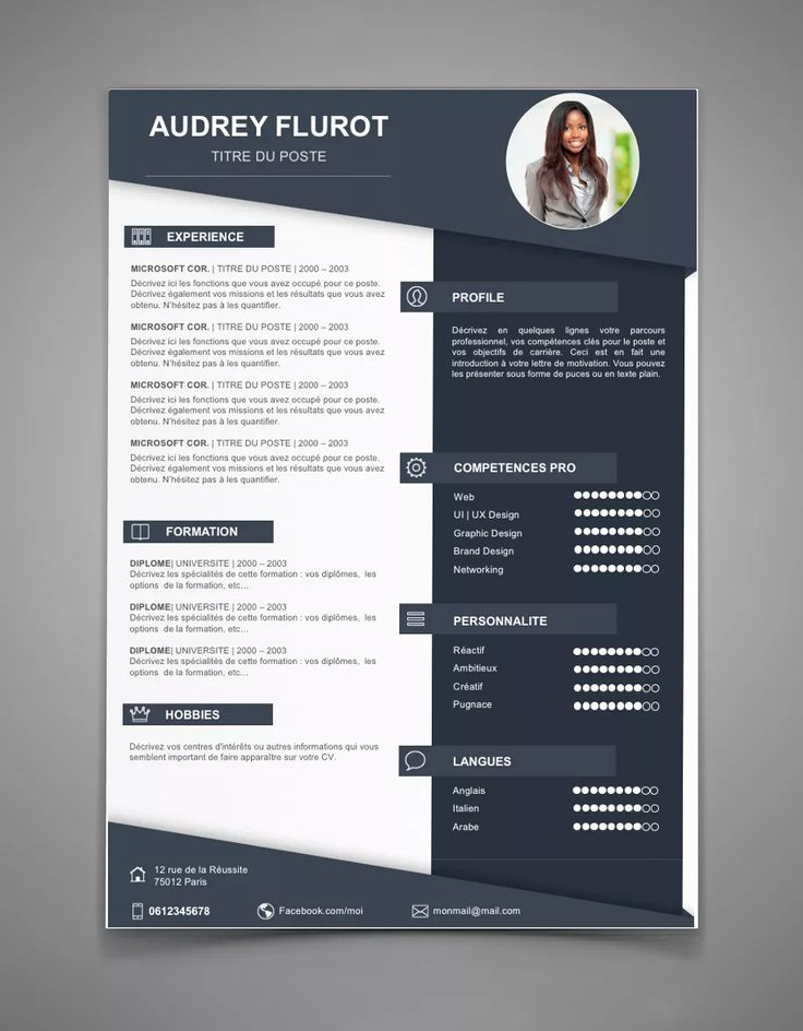 Souvent 25 best Cv images on Pinterest | Cv design, Resume design and Cv  WU72
