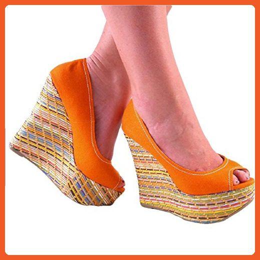 Paco Orange 7.5 - Pumps for women (*Amazon Partner-Link)