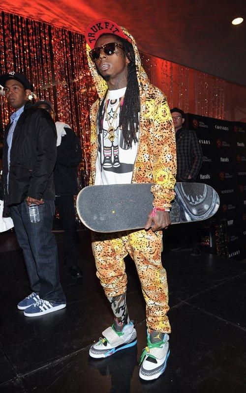 Lil Wayne wearing Air Jordan Son of Mars Sneakers