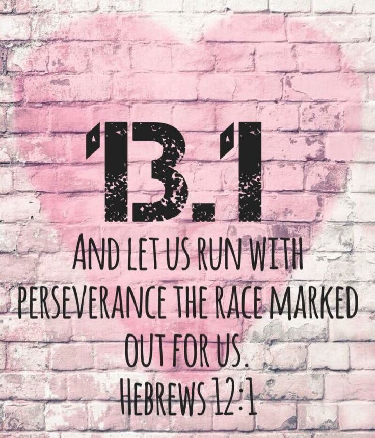 Half marathon.  Hebrews 12:1 Running