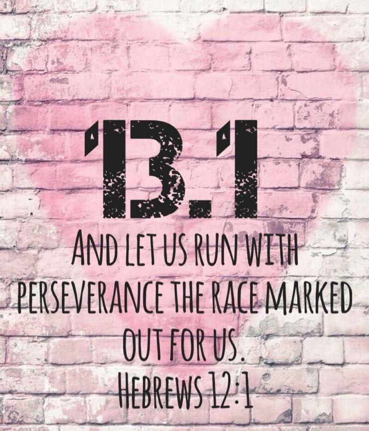 Half marathon.  Hebrews 12:1 Running