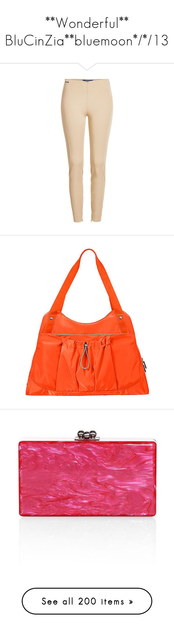 """**Wonderful** BluCinZia**bluemoon*/*/13"" by bluemoon ❤ liked on Polyvore featuring beige, polo ralph lauren, bags, handbags, tote bags, orange, tote purses, nylon pouch, orange purse and nylon tote bags"