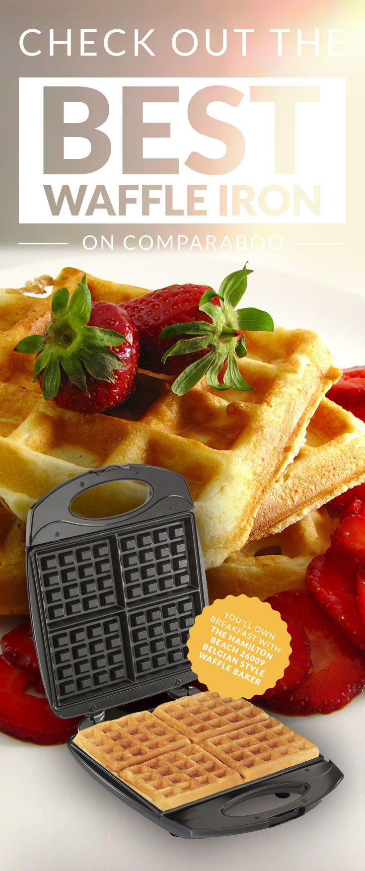 Comparaboo scanned over 100,000 reviews to find the 10 top rated waffle irons. The top two are neck-in-neck for the #1 position, and we're not complaining! Check out the top-rated waffle irons on www.comparaboo.com | @comparaboo