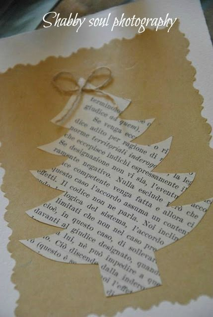Shabby soul: Christmas Cards DIY - I would use Christmas hymns though instead of a foreign language lol super cute idea!!