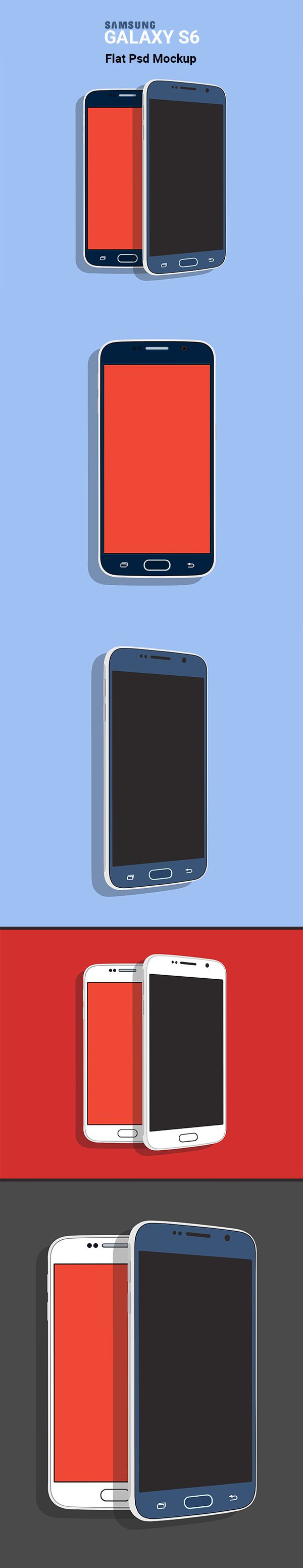 6 poster design photo mockups 57079 - 6 Poster Design Photo Mockups 57079 Samsung Galaxy S6 Flat Psd Mockup Main