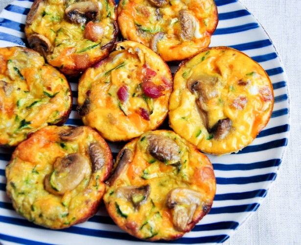 Mini bacon and mushroom frittatas