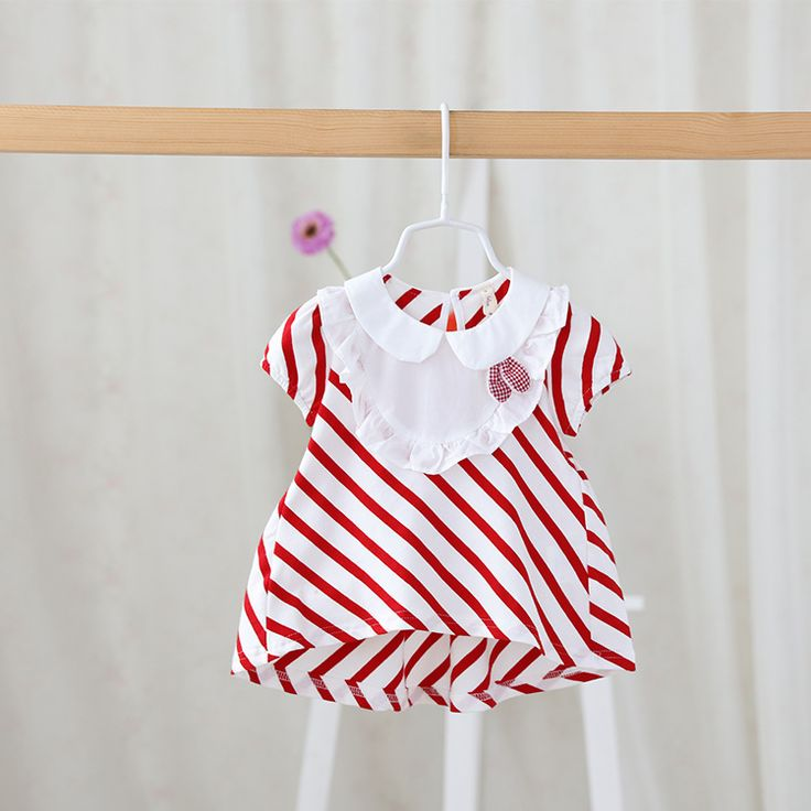 >> Click to Buy << 2016 summer new children's clothing wholesale sweet girl doll collar striped T-shirt Short Sleeve Polo infant  for  baby newborn #Affiliate