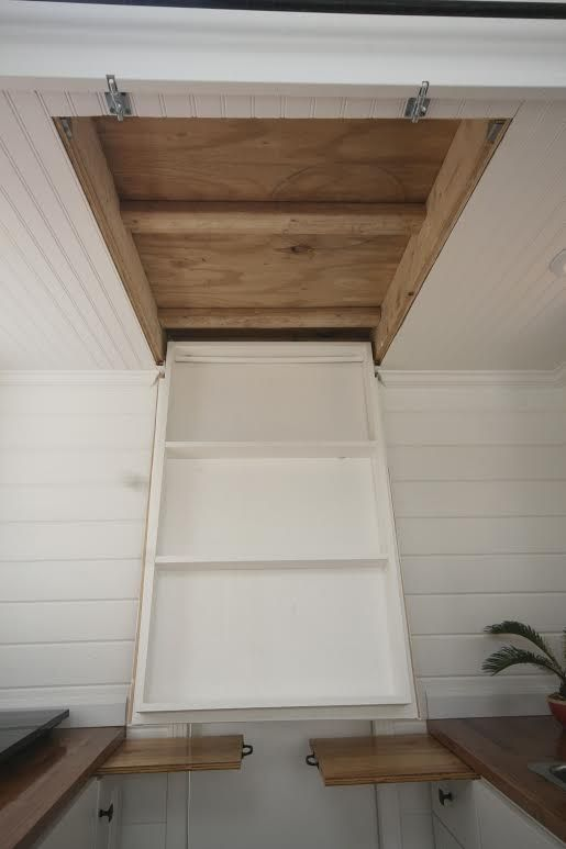 In ceiling storage...east coast tiny houses 009   Interview: Introducing the 160 Sq. Ft. Inaugural Tiny House by Graham Wales