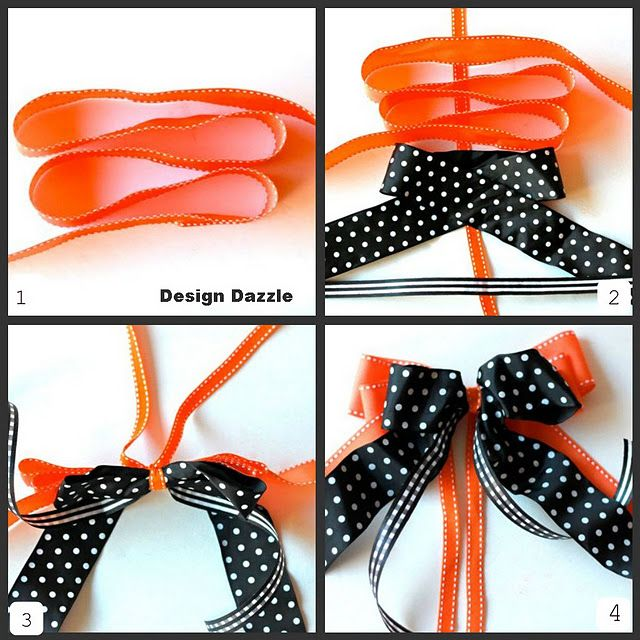 How to make a layered #bow #crafts #Christmas
