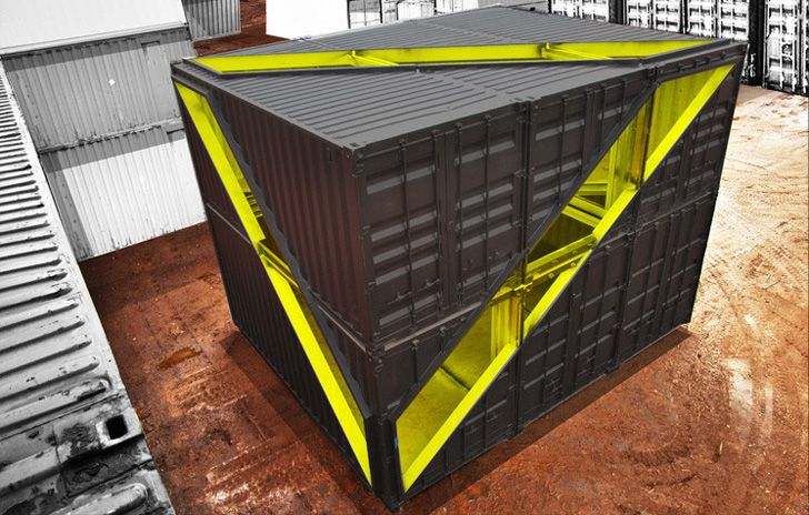 Mobile Shipping Container Studio by LOT-EK Takes Over the Whitney Museum Courtyard | Inhabitat New York City