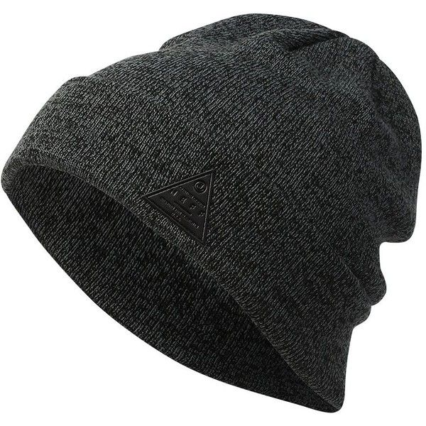 Neff Men's Dwrx Ribbed-Knit Waterproof Beanie ($22) ❤ liked on Polyvore featuring men's fashion, men's accessories, men's hats, black, mens ribbed hat, mens beanie, mens hats and mens waterproof hats