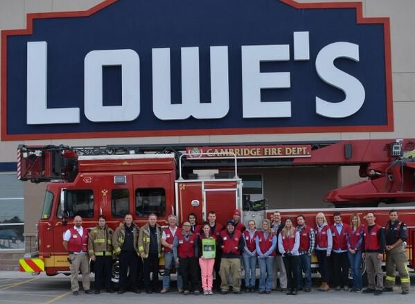 Our Fire Fighter friends in Cambridge, ON stopped by Lowe's for #B4L