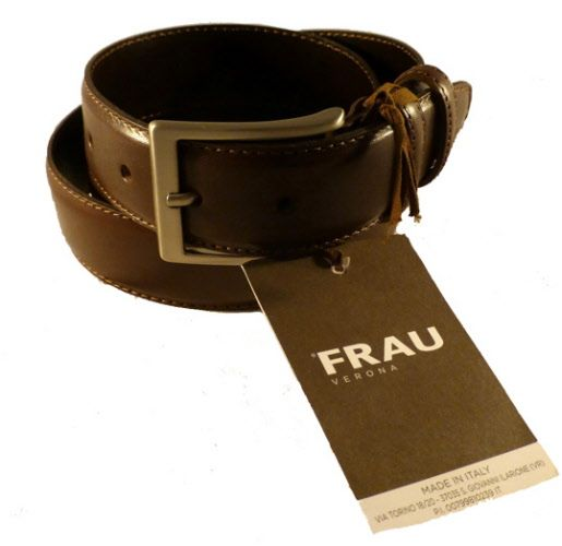 Made in Italy leather belt for men
