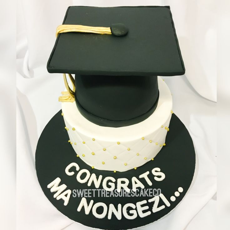 Made this #graduation #cake to say #congratulations #manongenzi. #black #white and #gold #degree #certificate #tertiary #madeit #sweettreasurescakeco #sweettreasures #southafrica #johannesburg #customcakes
