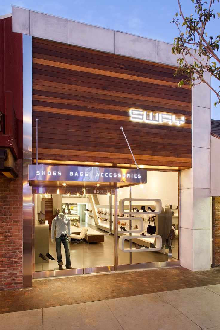 Sway Shoe Store in 2019  Building Materials  Storefronts  Jewelry store design Modern store
