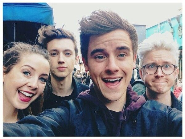 Zoella, Troye Sivan, Connor Franta and Tyler Oakley