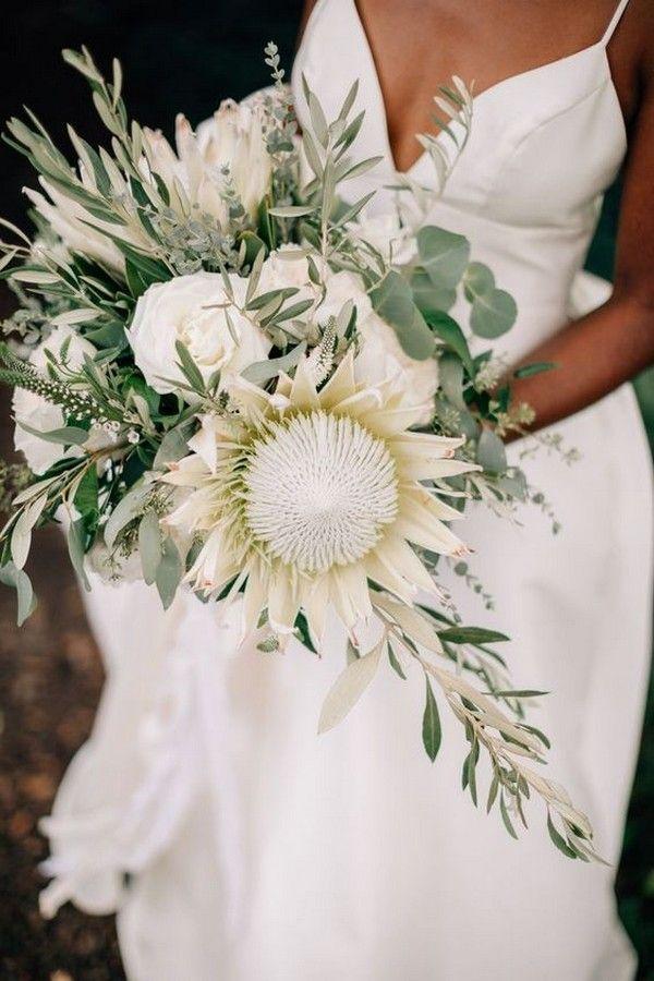 Hochzeitsblumen-Trends 2019: 20 Protea-Hochzeitssträuße