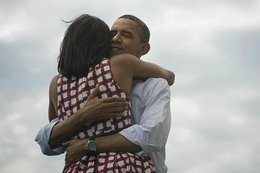 Barrack and Michelle Obama.