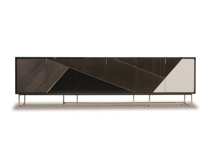 MODERN DESIGN SIDEBOARD |  a simple sideboard yet modern furniture piece, the pattern created with different woods look really modern |www.bocadolobo.com #modernsideboard #sideboardideas