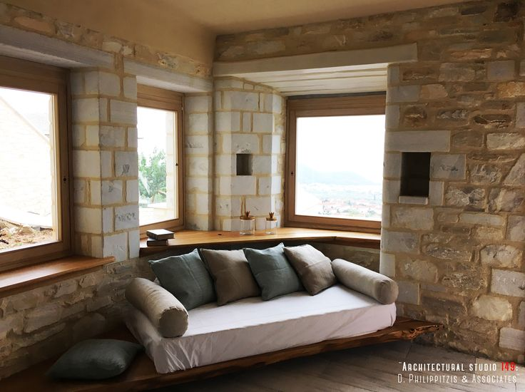 Bedrooms _ interior design | hotel | stone | traditional | minimal | wood | construction | handcrafted details _ visit us at: www.philippitzis.gr