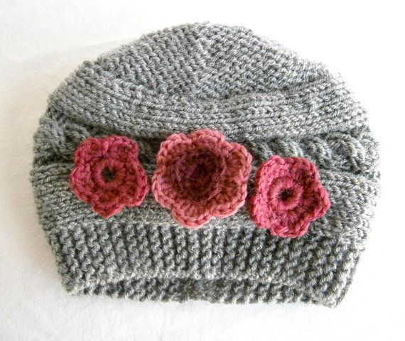 Baby Girl Beanies Knit Baby Girl Hats Baby by PrettyBagsByMia, $17.90
