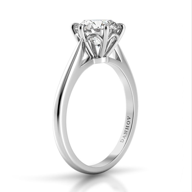 Danhov Classico Single Shank Engagement Ring. Style CL110.