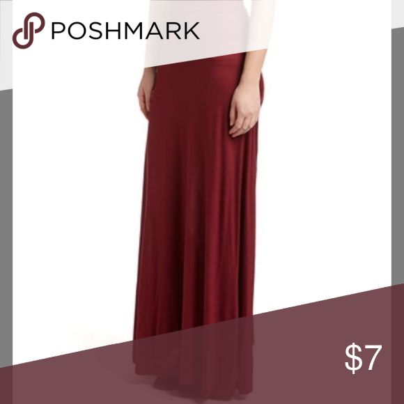 Burgundy Maxi Skirt Maxi skirt in burgundy. The material has a lot of stretch. Skirts Maxi