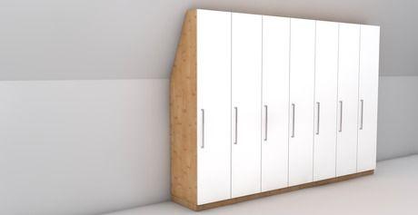 56 besten schrank bauen bilder auf pinterest dachgeschosse dachausbau und schlafzimmer ideen. Black Bedroom Furniture Sets. Home Design Ideas