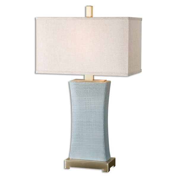 Uttermost cantarana 1 light pale blue grey table lamp