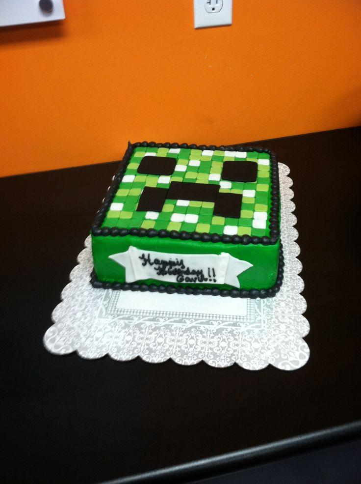 Minecraft cake Cake idea Pinterest
