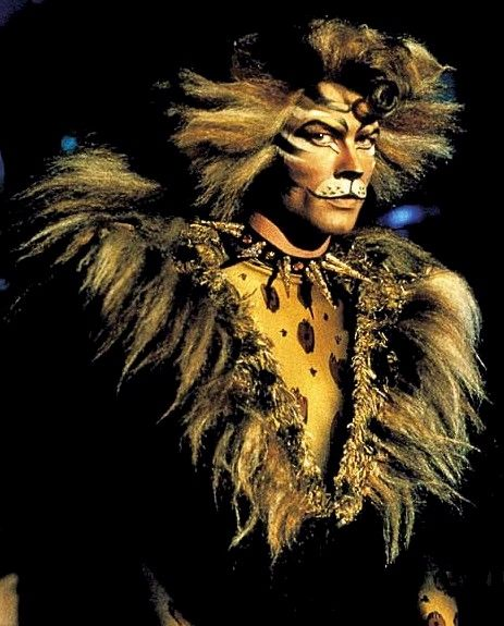 "John Partridge as Rum Tum Tugger from ""Cats"" musical. He's the rockstar cat!!"