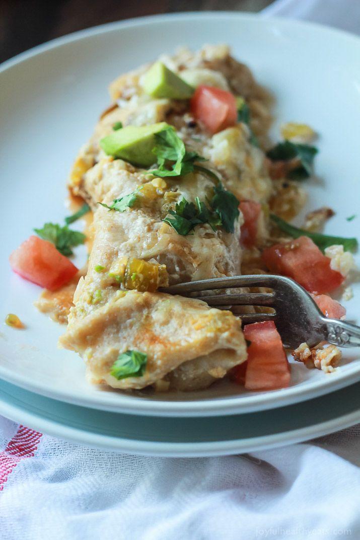 Chicken Enchiladas with Creamy Green Chili Sauce-8