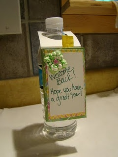 add a refresher packet.  perfect for office staff  Welcome Back to School Teacher Gift!