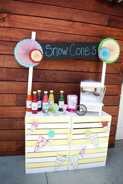 Snow Cone Summer Party!  See more party ideas at CatchMyParty.com!