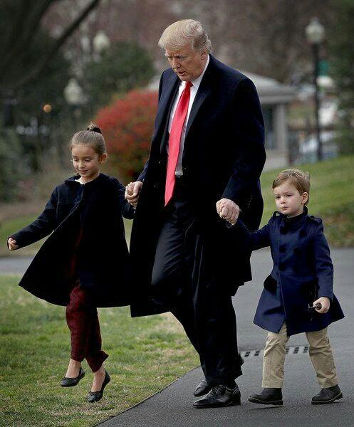 President and grandchildren