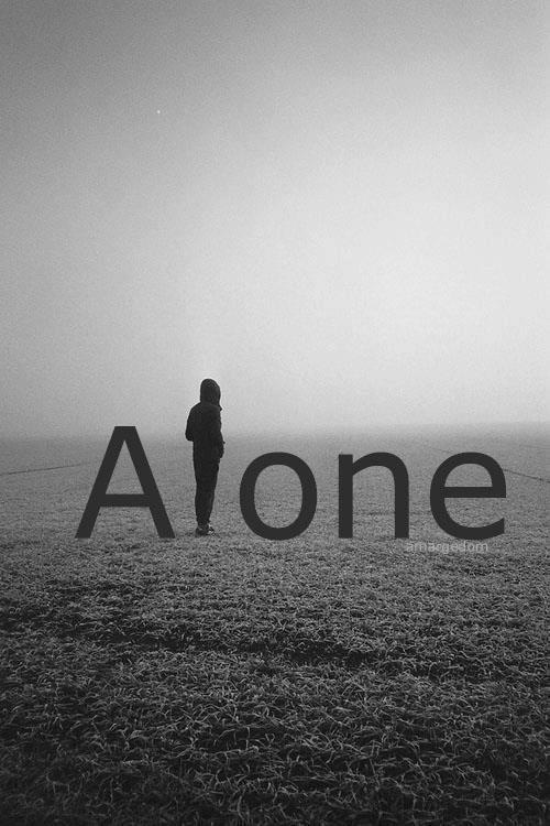 Lonely or Alone... big difference. Sometimes being 'stuck with others' is the loneliest feeling of all.