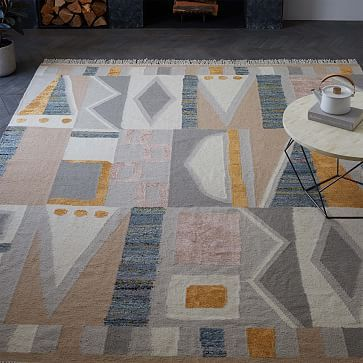 Vienna Wool Kilim Rug - Maple Sugar