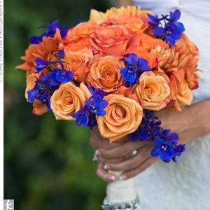 orange and blue wedding - Google Search