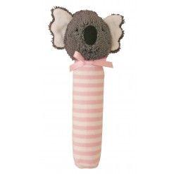 Alimrose Koala Squeaker - Pink Stripe