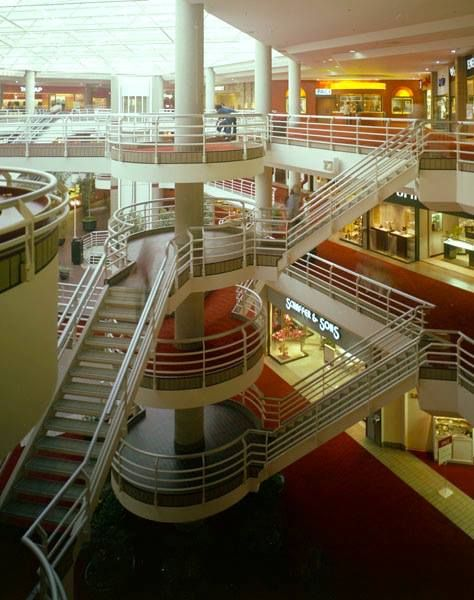 Sherman Oaks Galleria, Sherman Oaks, California (1981). Completely redone: it's no longer an enclosed mall, converted mostly to office space, with some restaurants and a fitness center...