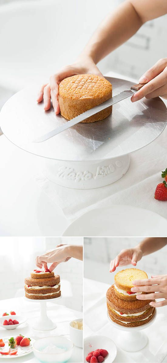 How to make a two tierd naked cake