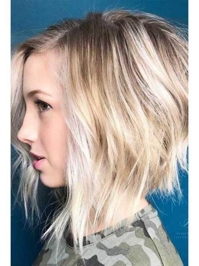 18 Fresh Layered Short Hairstyles for Round Faces #hairstyles #hairstyles #for #round #faces