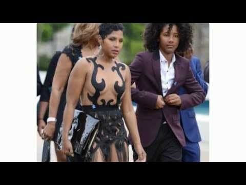 Тони Брэкстон шокировала откровенным платьем