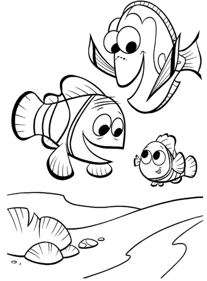 Free Printable Nemo Coloring Pages For Kids Finding Nemo Coloring Pages Nemo Coloring Pages Disney Coloring Pages