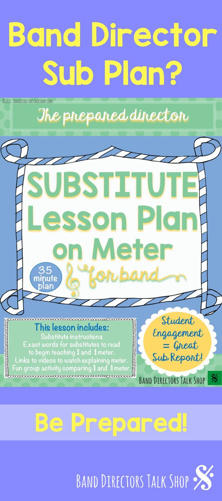 "$4 Band director substitute lesson plan on meter! Visit ""Band Directors Talk Shop"" on Teachers Pay Teachers for band lesson plans, band games, band activities, beginning band ideas, band bulletin board sets, rhythm games, note name games, music word walls, practice reports, rehearsal techniques, woodwind, brass and percussion instrument care, band teaching strategies, motivational quotes and more!"