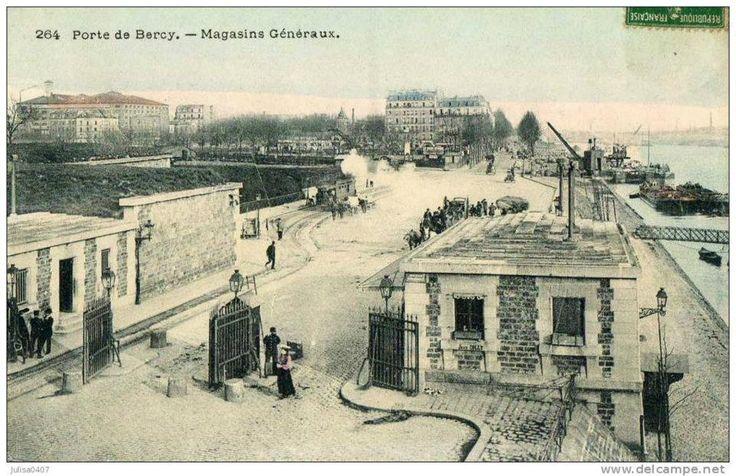 Panorama de Portes de Paris, fortifications et enceinte de Thiers : porte de Bercy